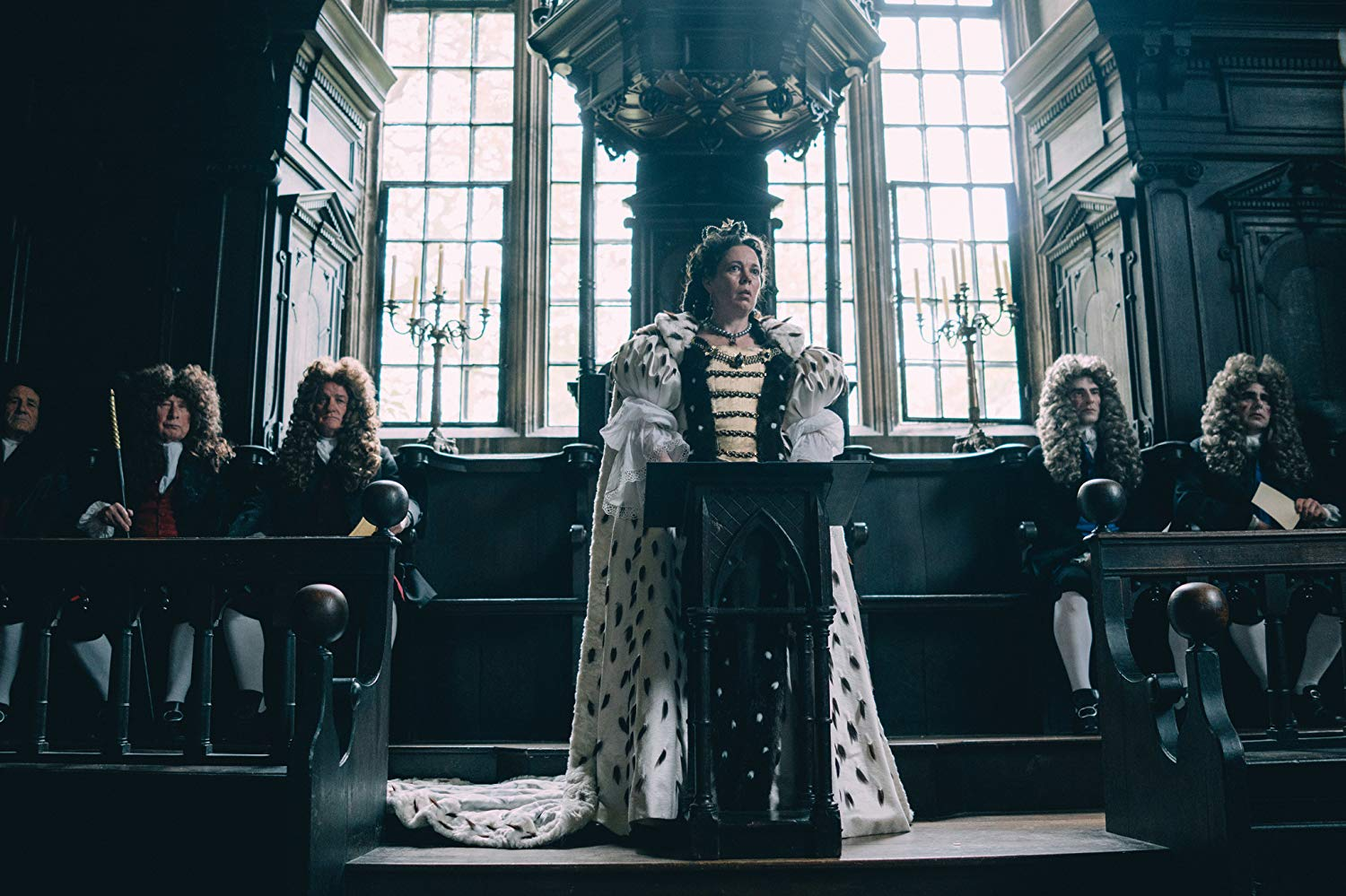 Olivia Colman as Queen Anne in The Favourite